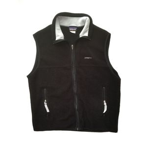 Patagonia Synchilla Black Zip Up Vest/Size Large